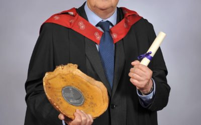 Arboriculture student presented with prestigious award at graduation ceremony