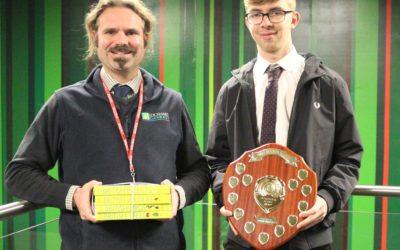 Ian presents Environmental Science Award
