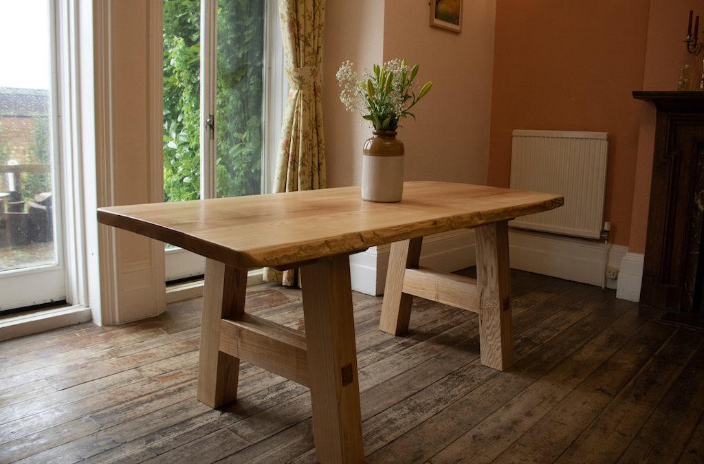 Solid Ash Tables For Boardroom At Lockhart Garratt