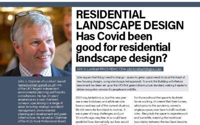 Landscape Design – Has Covid been good for residential landscape design?